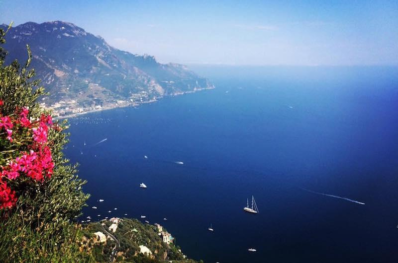 Ravello uitzicht op Amalfikust