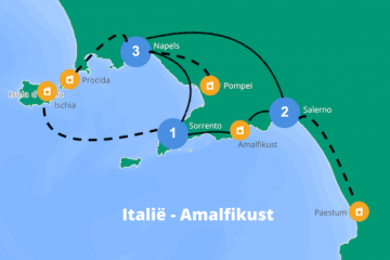 Reisroute Amalfikust Italie