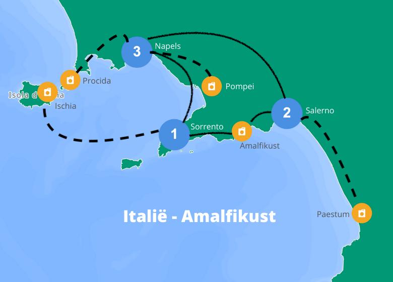 Roadtrip Amalfikust route