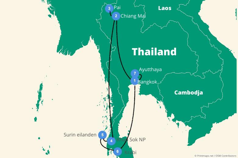 Thailand reisroute 3 weken