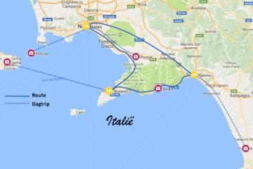 roadtrip zuid-italie amalfikust