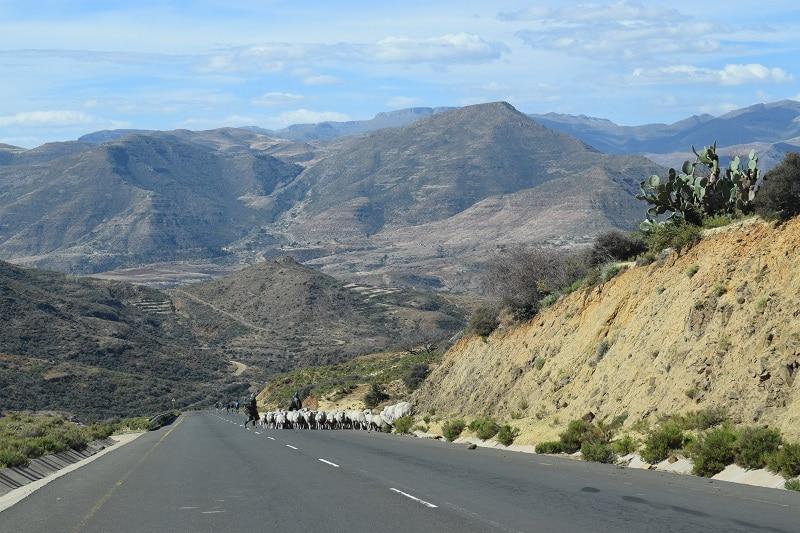Roadtrip wegen auto Lesotho