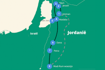 Reisroute jordanie