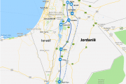 Route Jordanië roadtrip