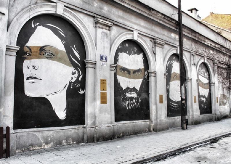 kazimierz krakau tips graffiti