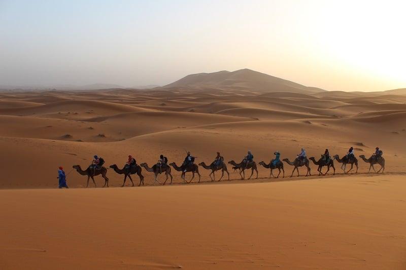 driedaagse woestijnsafari merzouga marokko zonsopkomst