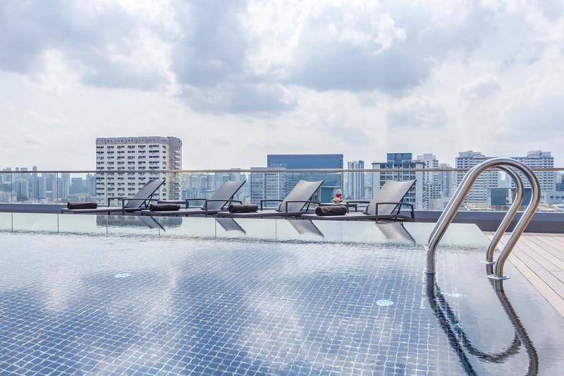 Stedentrip Singapore zwembad