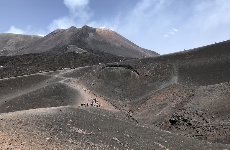 Etna vulkaan hoogtepunt