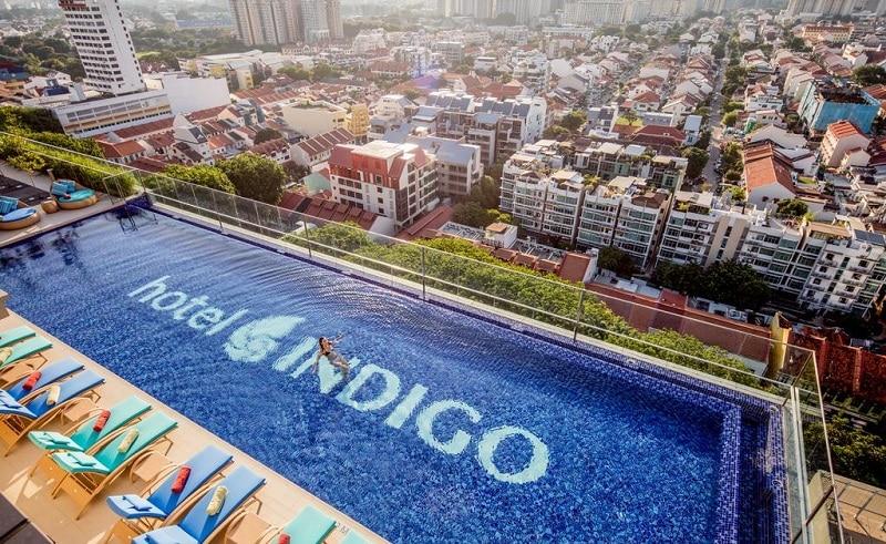 Singapore zwembad op dak