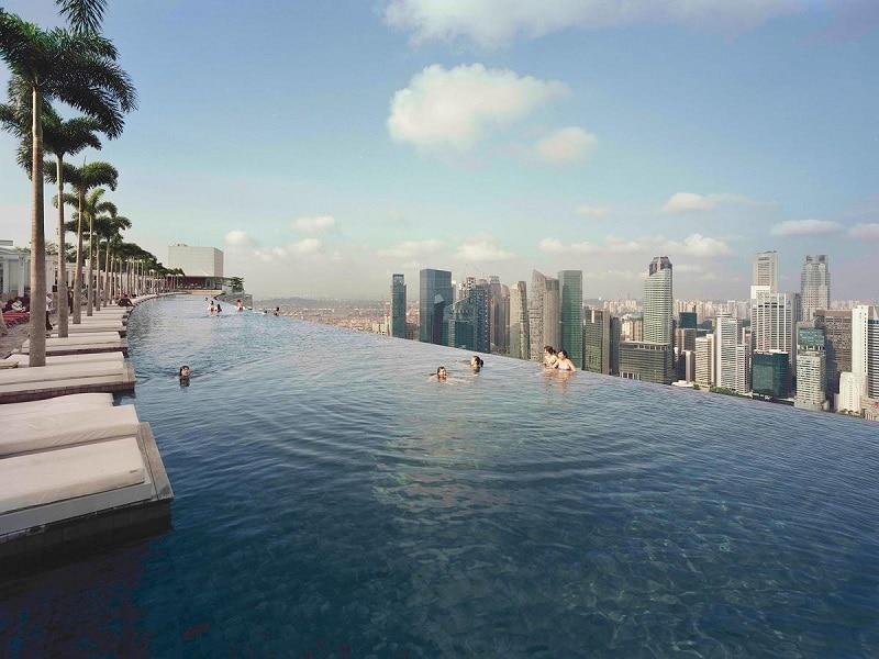 hotel Singapore zwembad op dak