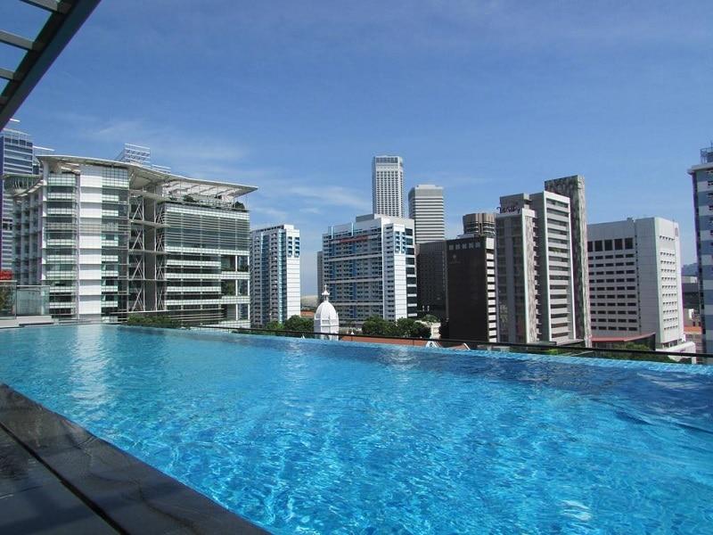 Singapore rooftop zwembad