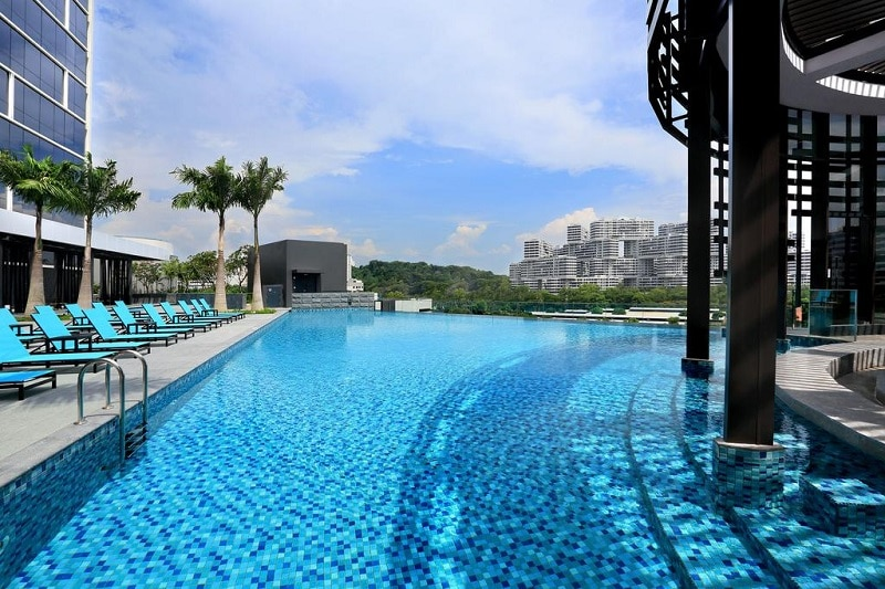 Singapore zwembad dak luxe