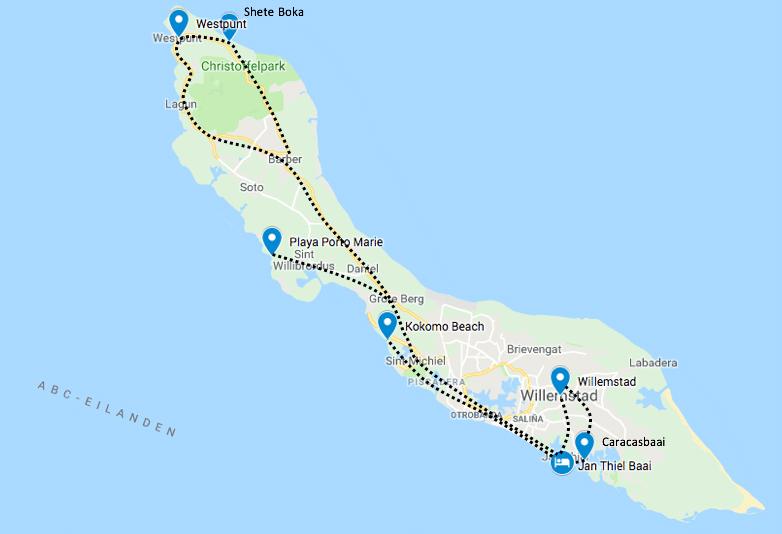Roadtrip curacao 1 tot 2 weken