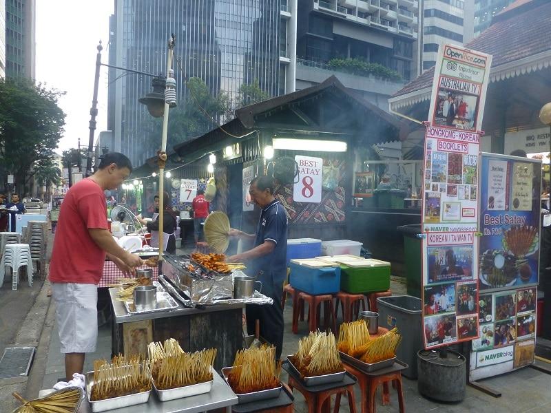 Satay Street Lau Pa Sat Singapore Streetfood