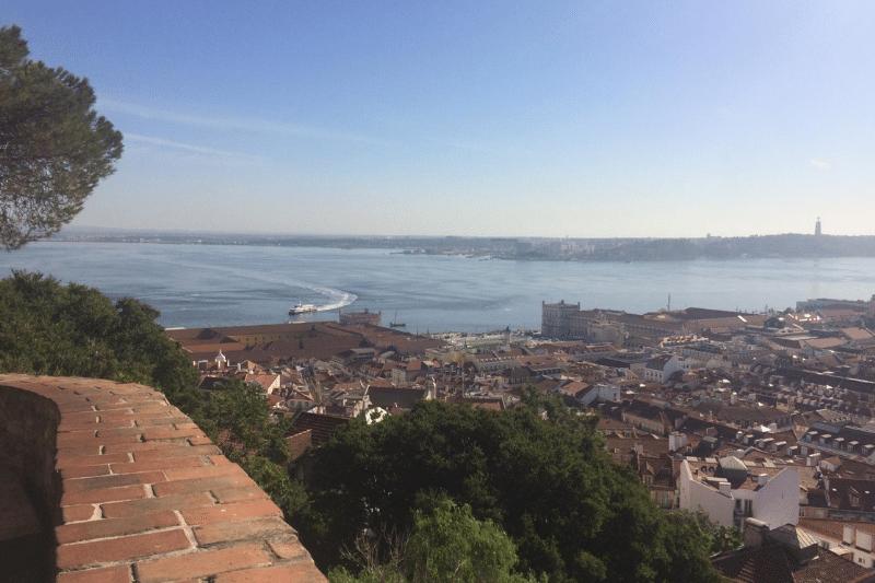 Uitzicht vanaf Castelo de Sao