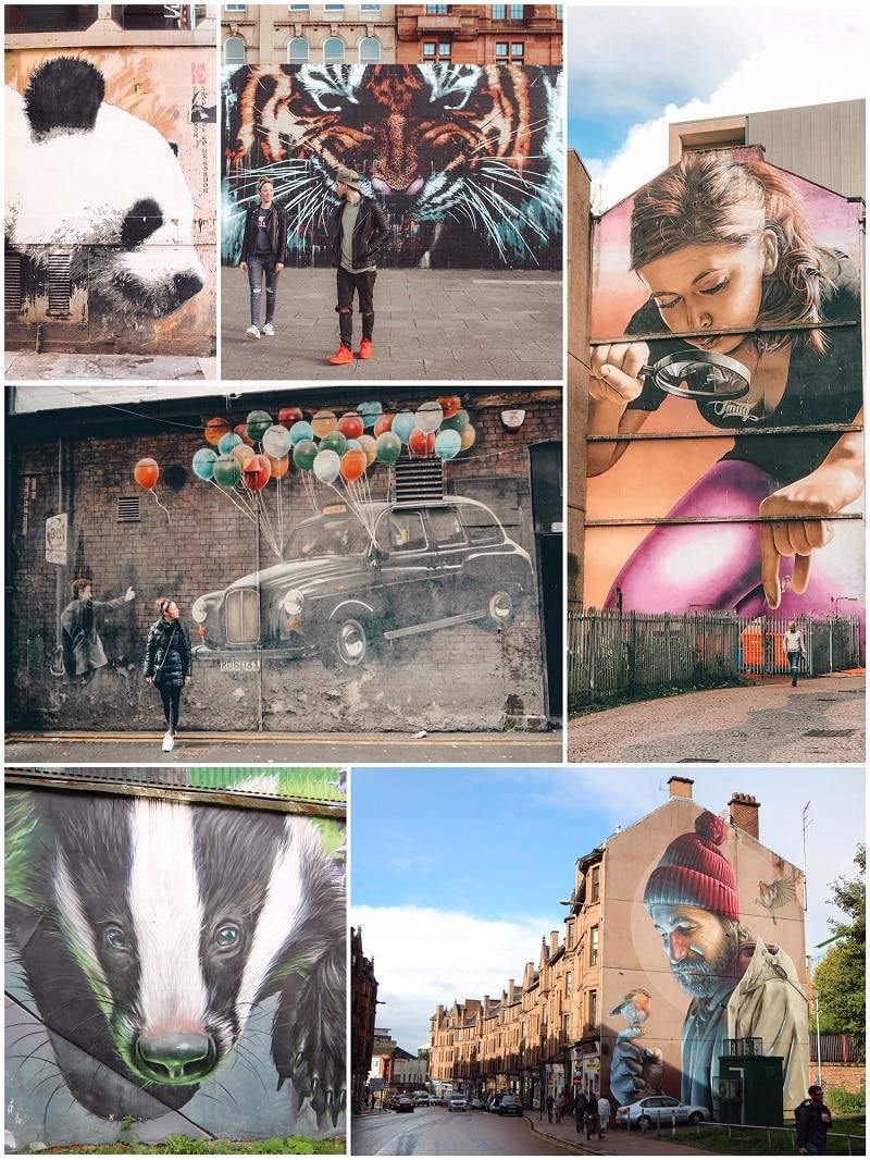 reisroute schotland tips 5 7 dagen streetart artwork graffiti
