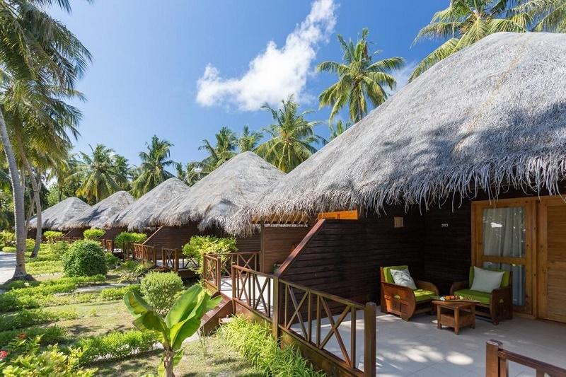 Tuinvilla Maldiven slapen