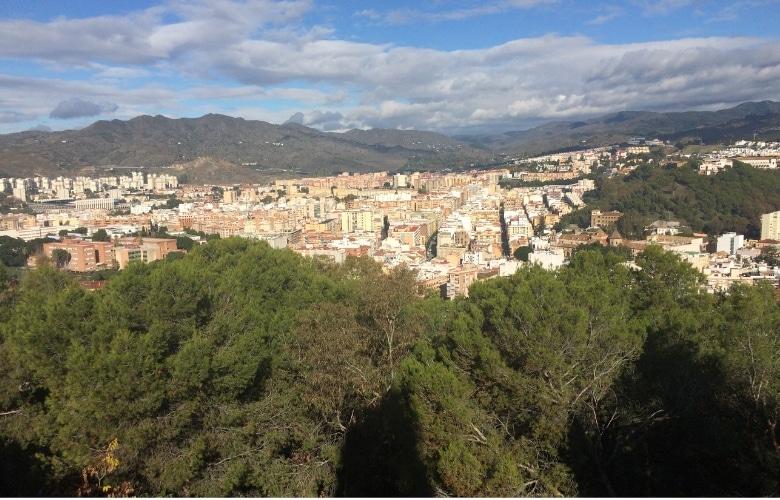 Malaga uitzicht bergen stad