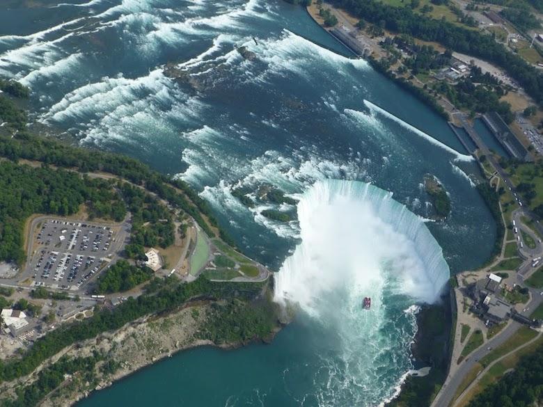 Niagara watervallen vanuit Helikopter