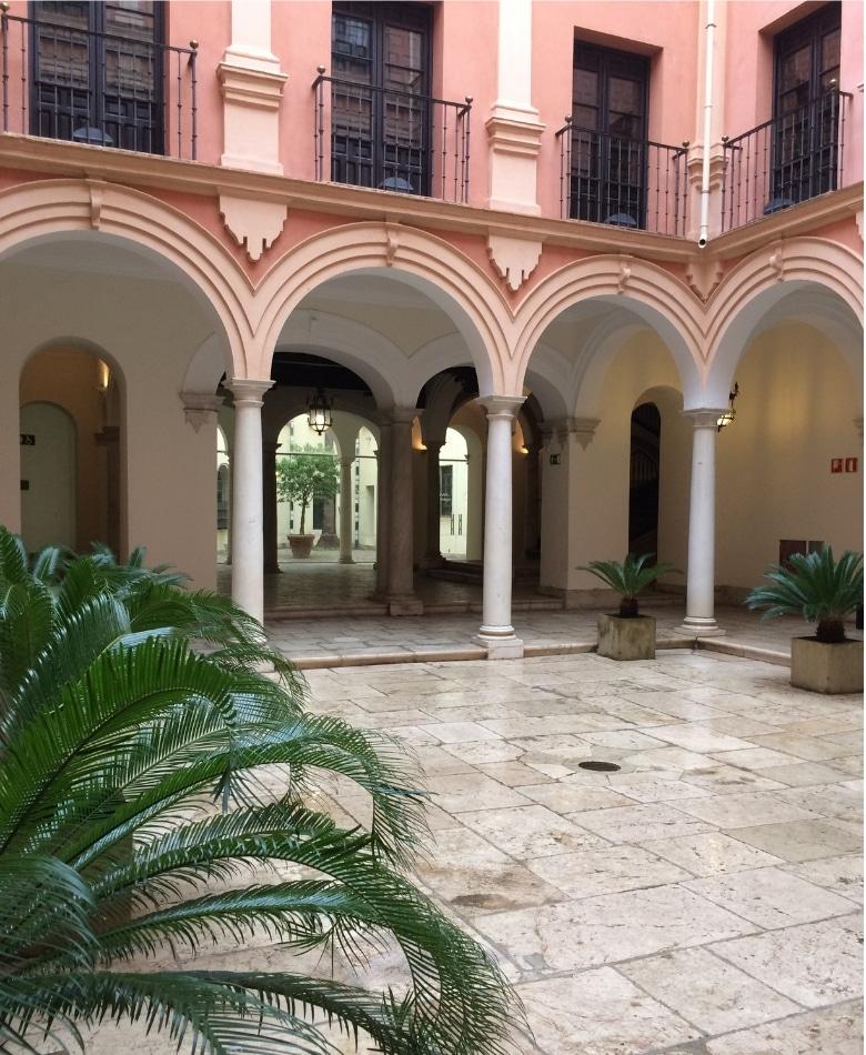 Paleis Episcopal Malaga binnenplaats