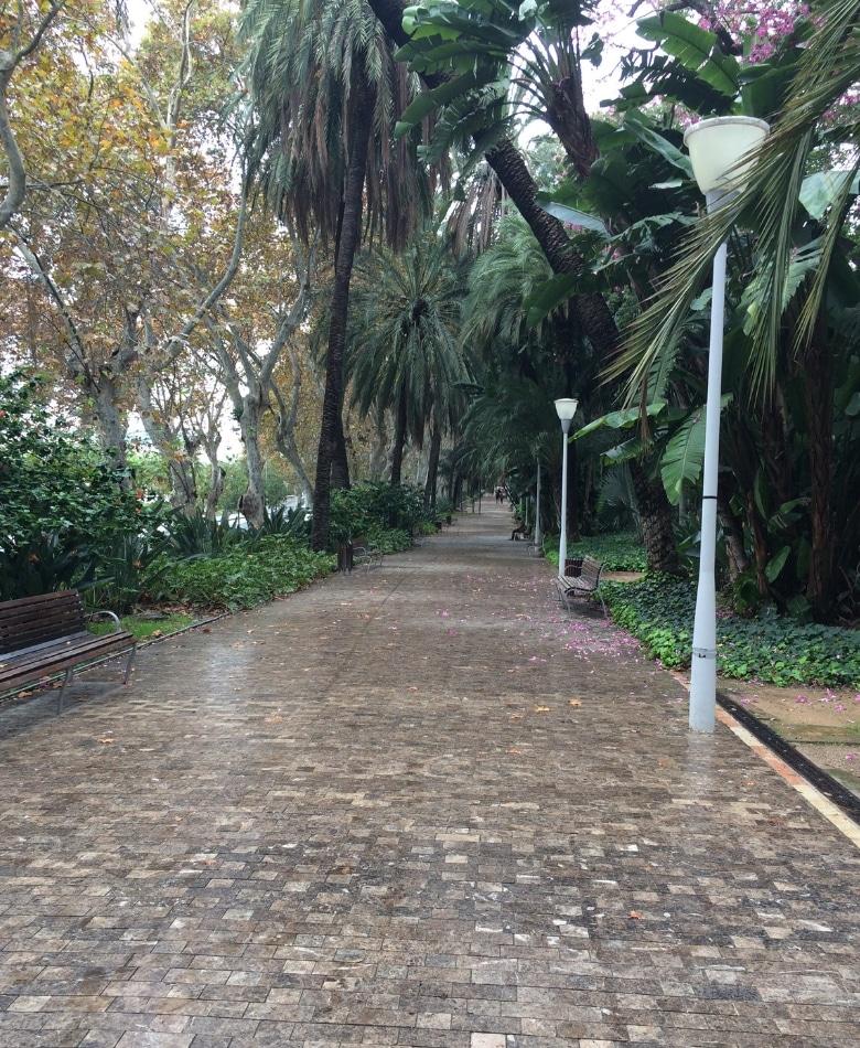 Paseo del Parque Malaga park