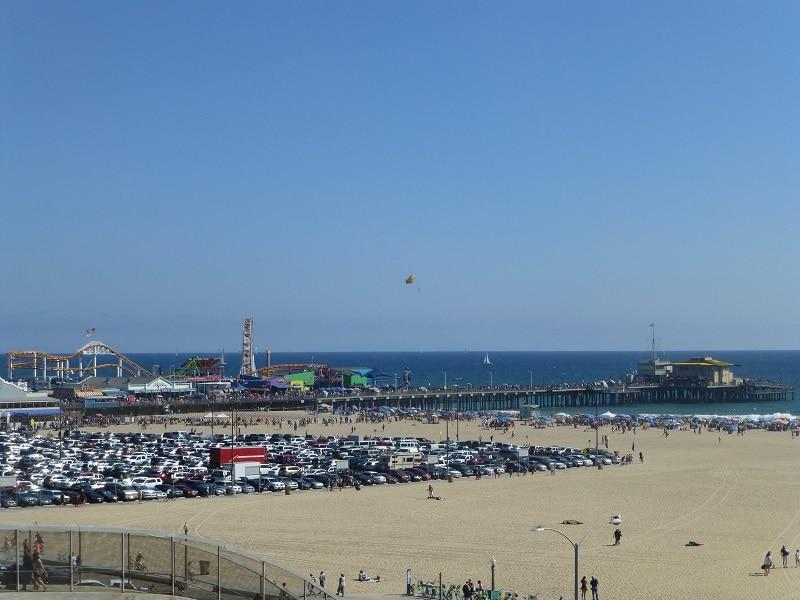 Santa Monica Pier pretpark Los Angeles strand