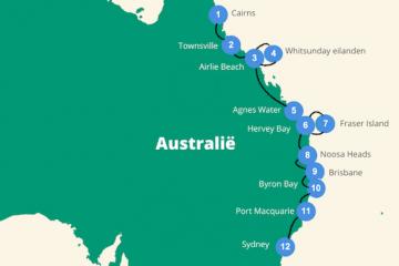 Backpacken Australie route