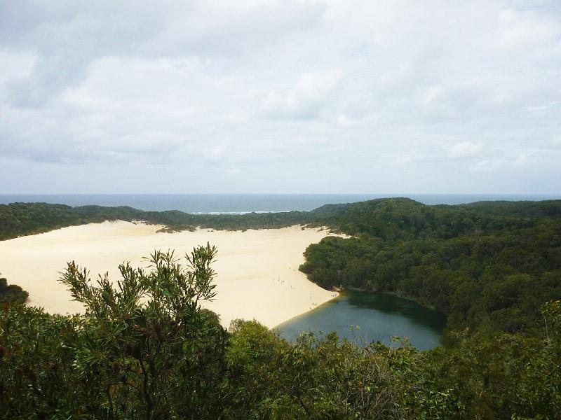 Lake Wabby, Fraser Island, Australië