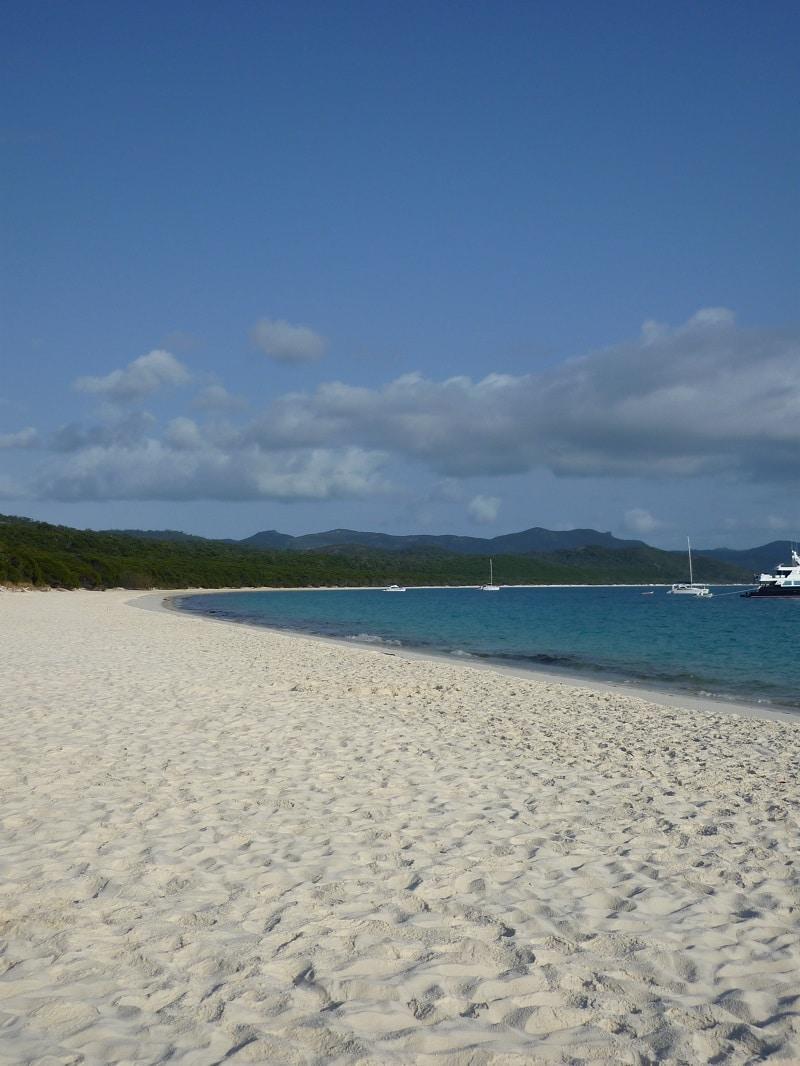 Whitehaven beach, whitsunday eiland, Australië
