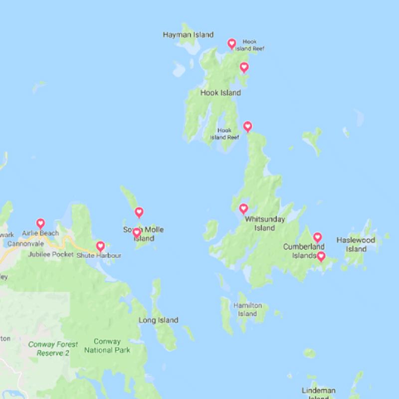 Hoogtepunten Whitsunday eilanden