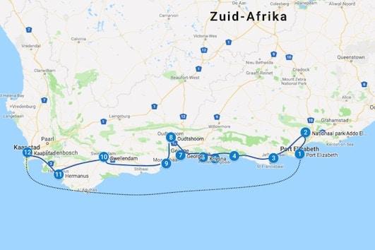 Zuid afrika Garden route rijden tips