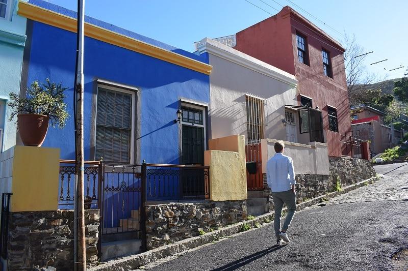 kaapstad gekleurde huisjes bo kaap