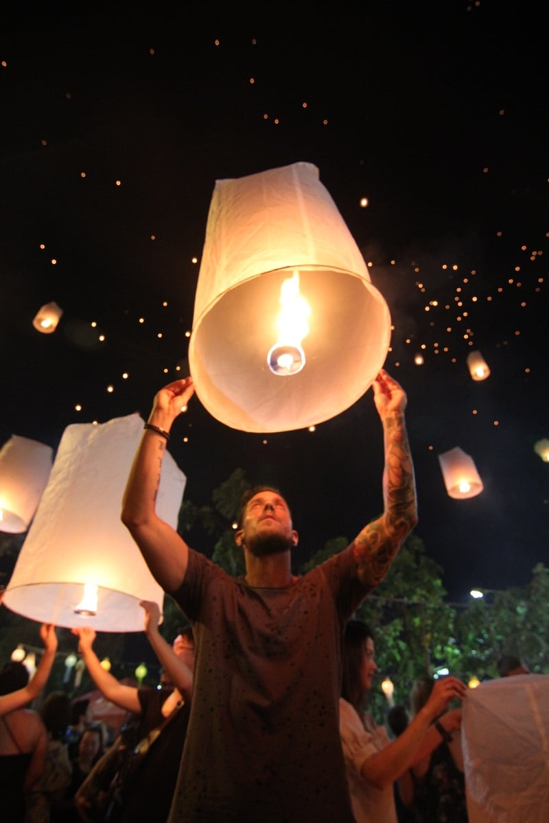 lichtfestival chiang mai yee peng loy krathong