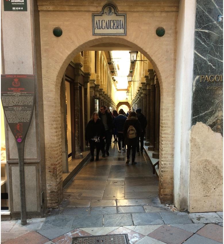 Granada Alcaiceria zijdemarkt steeg