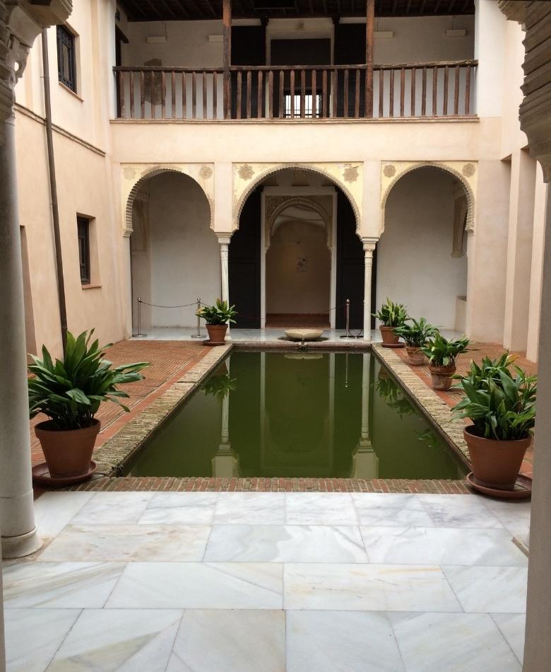 Granada casa de zafra binnenplaats