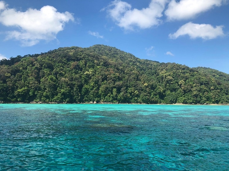 Route Thailand Surin eilanden