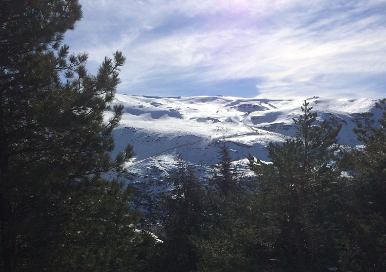 Sierra nevada granada skien berg