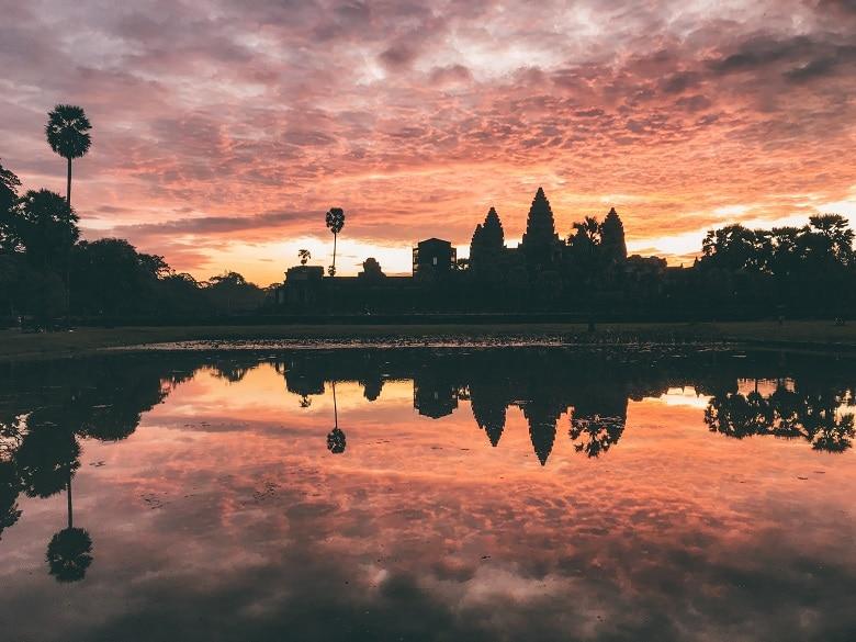 Angkor Wat zonsopkomst Cambodja