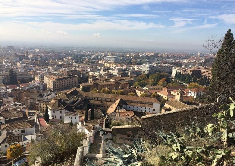 Uitzicht granada Muralles del Albaycin
