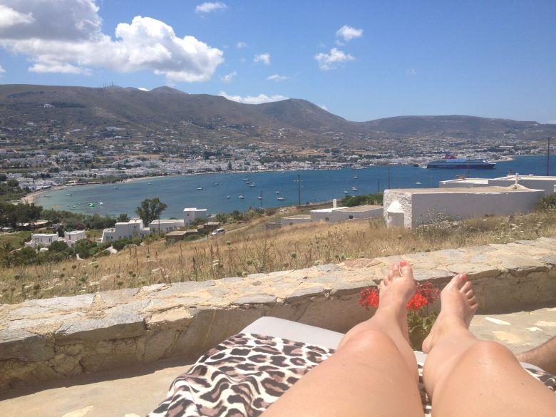 Chillen op Paros Griekenland