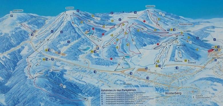Pistes winterberg kaart