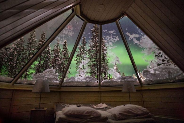 finland overnachten iglo noorderlicht