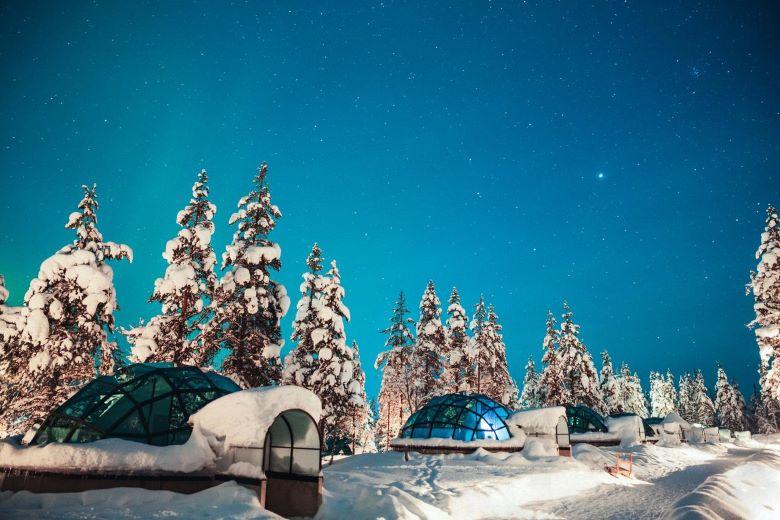 finland lapland glazen iglo saariselka