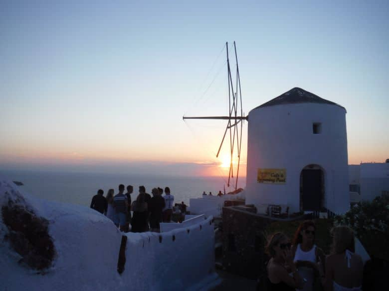 zonsondergang santorini griekenland tips