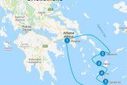 Griekenland route Cycladen eilanden