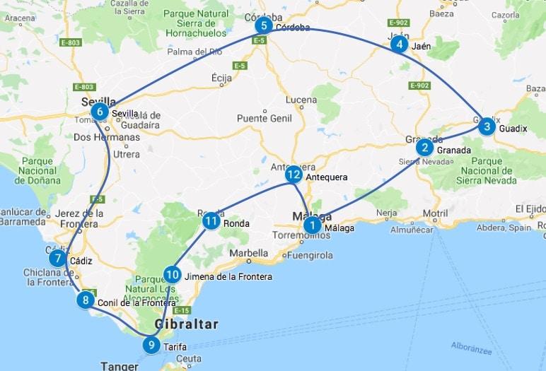 Roadtrip andalusie spanje 3 tot 4 weken