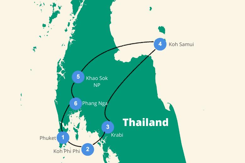 Route zuid thailand