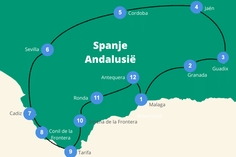 rondreis zuid spanje andalusie