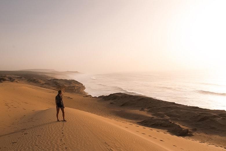 sunset woestijn sahara marokko