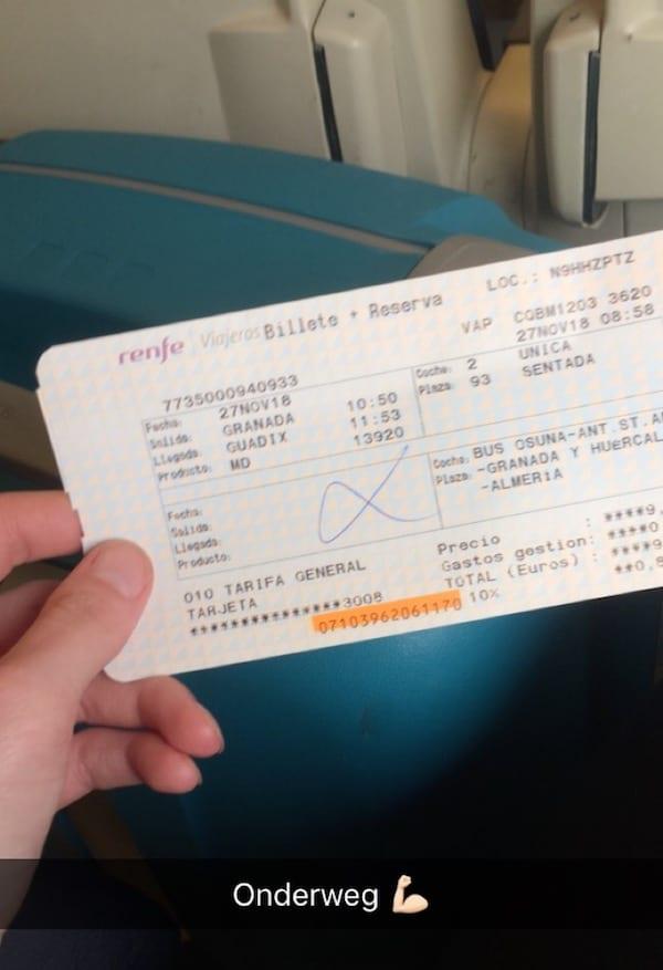 treinen andalusie